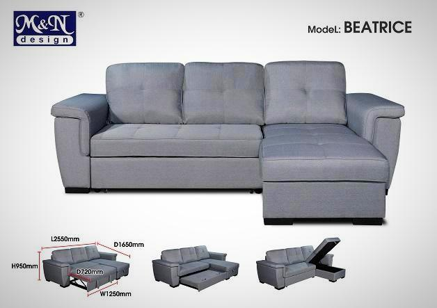 Fabric sofa - L-shaped to suit your space & style