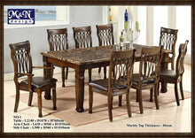 M&N -Wood Dining Table Set - Rectangle - No-1 (1+8)
