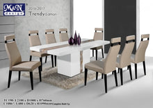 M&N - Marble Dining Table Set - Rectangle - TC190+C1086 (1+8)