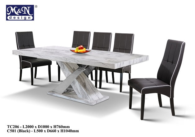 M&N-Dining Table-Rectangle(1+8)-TC206-2M