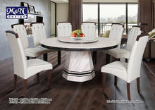 M&N - Marble Dining Table Set - Round - TC187-C803 (1+8)