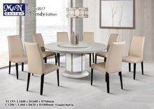 M&N - Marble Dining Table Set - Round - TC193+C1206 (1+8)