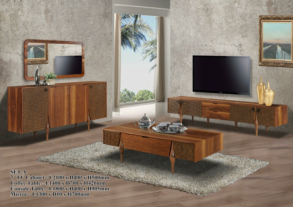 Wood - Living Hall Cabinet Collection - ROMA