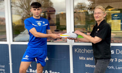 Meaty new sponsorship deal for teenage Telford football star