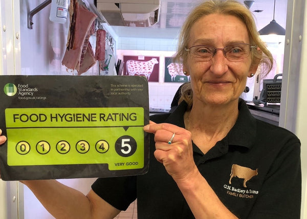 We're proud to display our five-star food hygiene rating