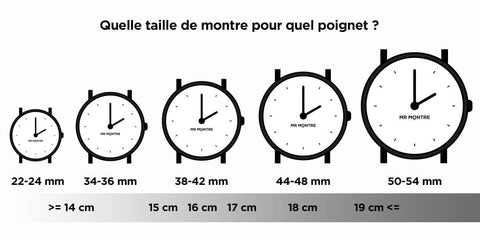 taille montre