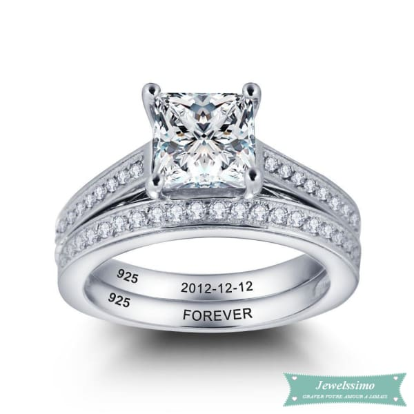 Alliance Femme En Argent Beautiful 47 - 4 Bague Couple
