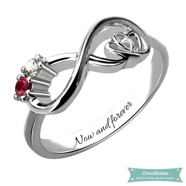 Bague Infini My Heart Is Your Love En Argent 47 - 4 Bague Infini
