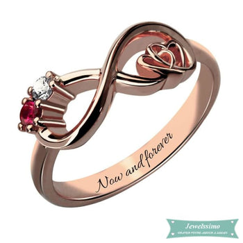 Bague infini My Heart Is Your Love en plaqué or rose 47 - 4 bague infini