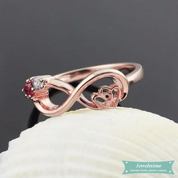 Bague infini My Heart Is Your Love en plaqué or rose bague infini