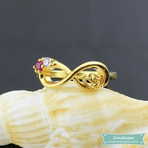 Bague infini My Heart Is Your Love en plaqué or bague infini