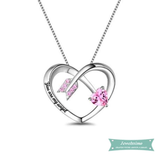 Collier couple Cupidon en argent 925 35cm Couple