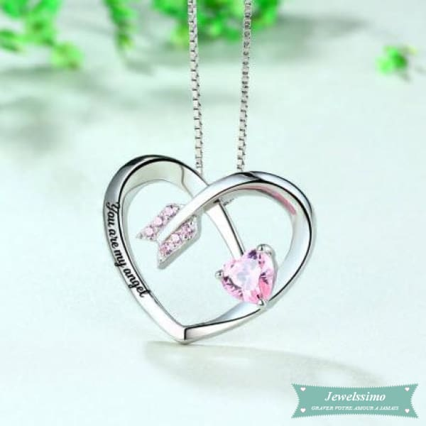 Collier couple Cupidon en argent 925 Couple