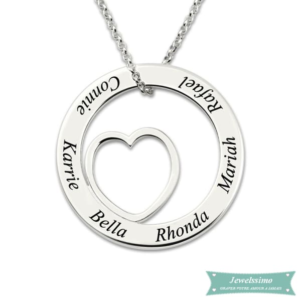 Collier Famille I Will Always Love You En Argent Sterling 925 35Cm Famille