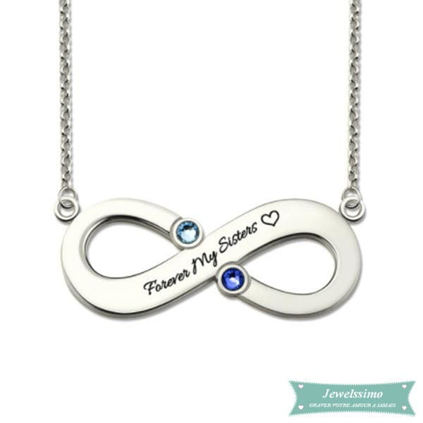 Collier Infini Forever My Sisters Argent Sterling 925 35Cm Infini