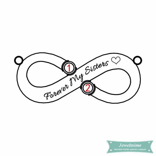 Collier Infini Forever My Sisters Plaqué Or Rose Infini