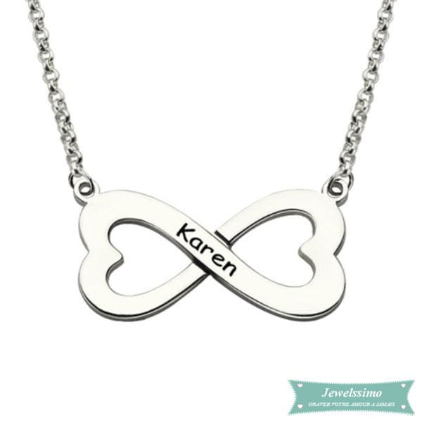 Collier infini Love argent sterling 925 35cm Infini