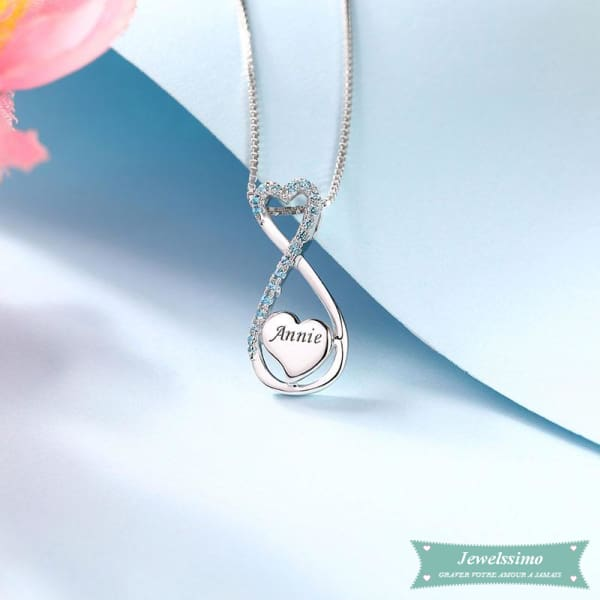 Collier Infini My Heart Will Go On En Argent