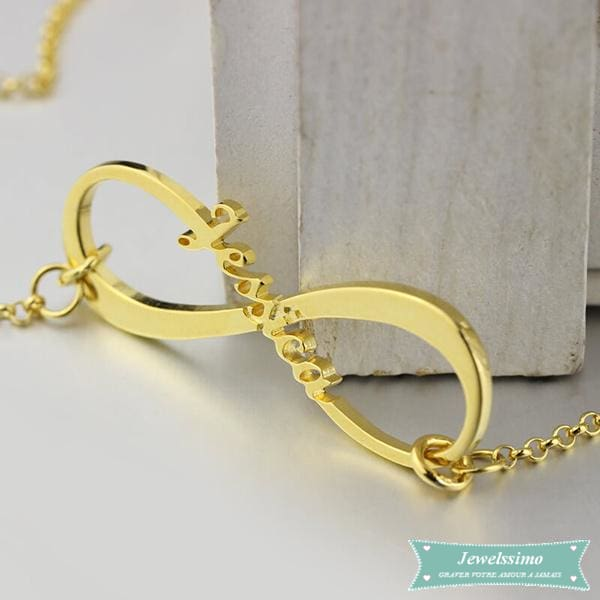 Collier Infinity Plaqué Or Rose Infini