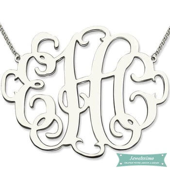 Collier monogramme XXL Looking Good Argent sterling / 35cm collier monogramme