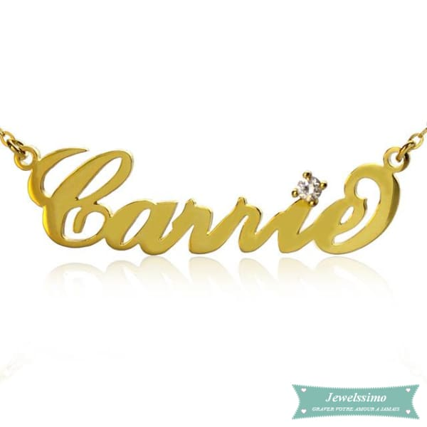 collier prenom style carrie