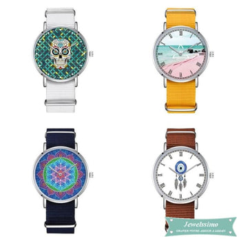 Montre photo Custom en Nylon montre quartz