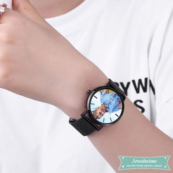 Montre photo personnalisable Lovers pour femme montre quartz