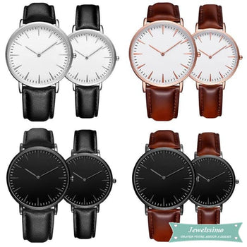 Montre quartz personnalisable Fashion Noir / Argent montre quartz