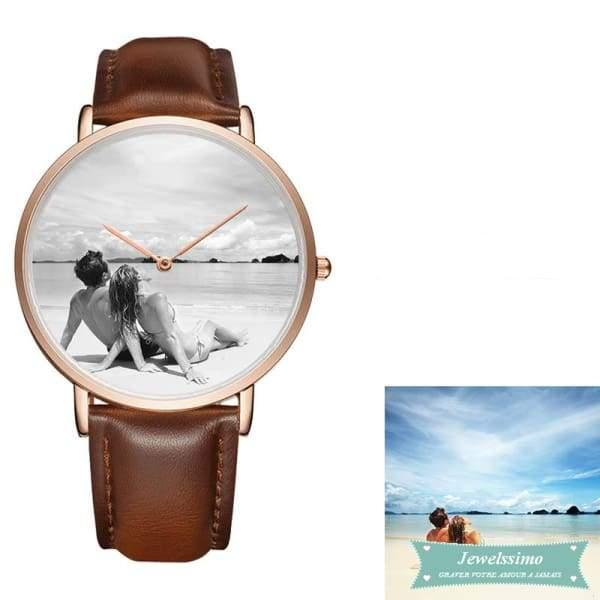 Montre quartz personnalisable Fashion