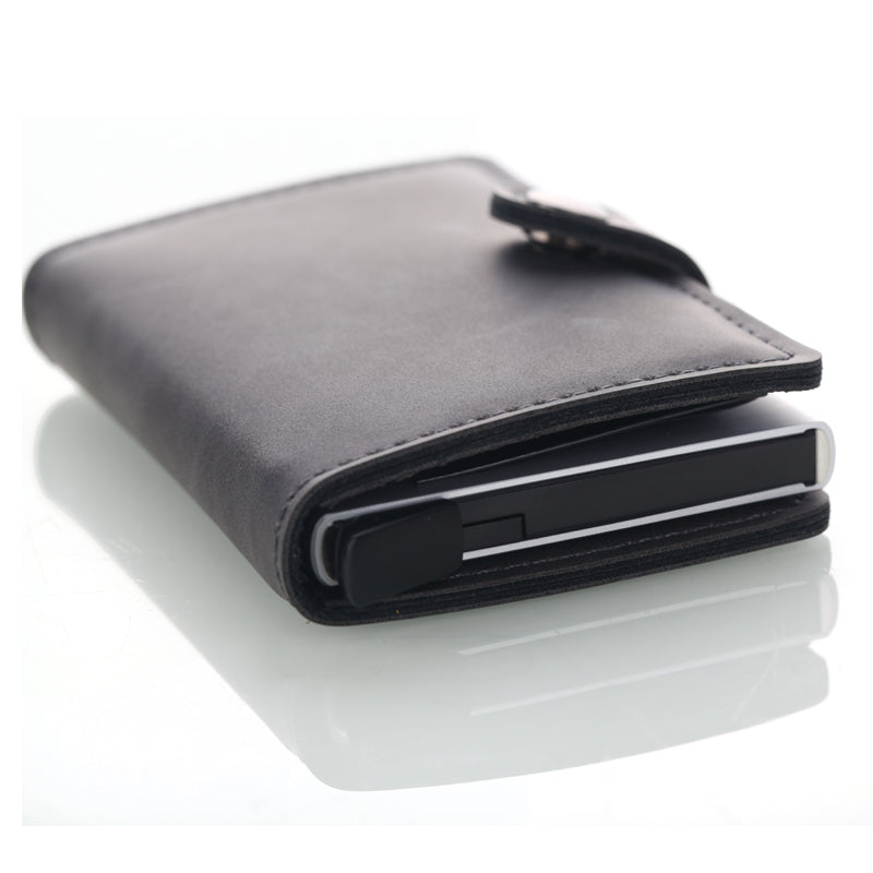 HIGH QUALITY MINIMALIST FAUX LEATHER RFID WALLET BY AKOE