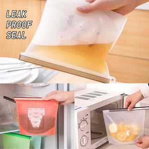 Reusable Silicone refrigerator Storage Bag (1000 ml)
