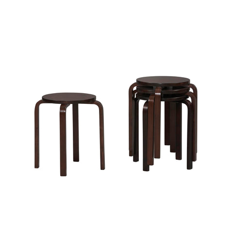 "17"" Bentwood Stool - Wenge Set Of 4"