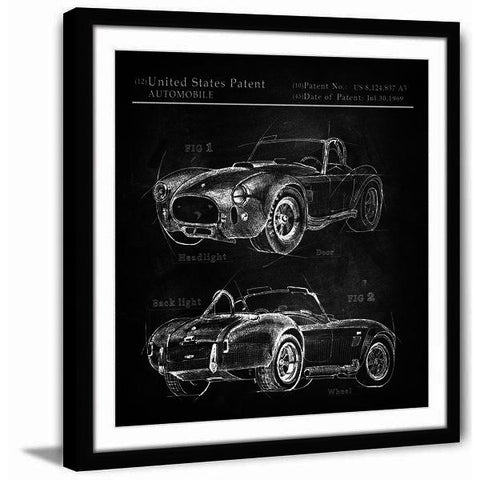 1965 Shelby Cobra Framed Painting Print