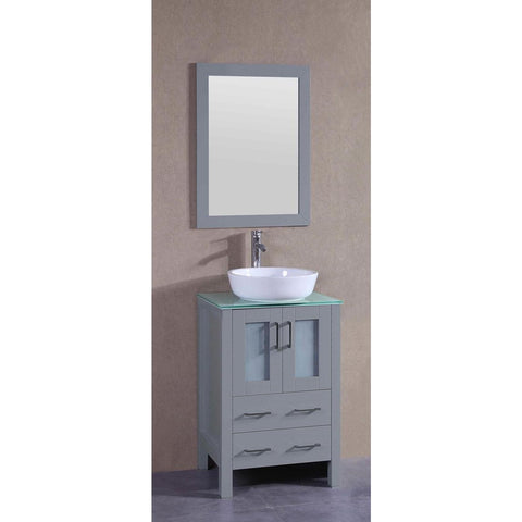 "24"" Bosconi AGR124BWLCWG Single Vanity"