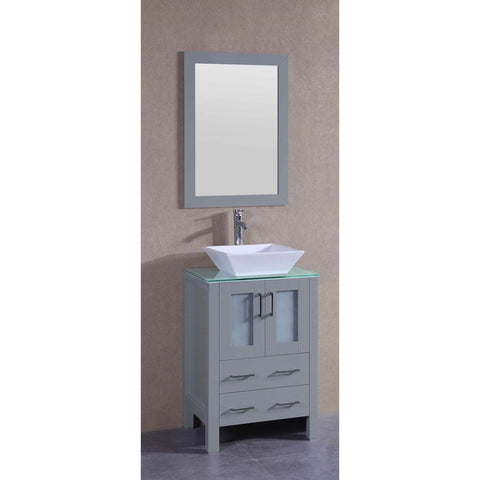 "24"" Bosconi AGR124SQCWG Single Vanity"