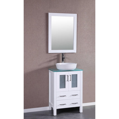 "24"" Bosconi AW124BWLCWG Single Vanity"