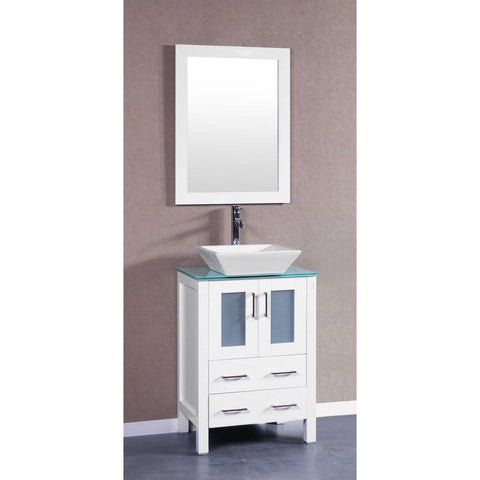 "24"" Bosconi AW124SQCWG Single Vanity"