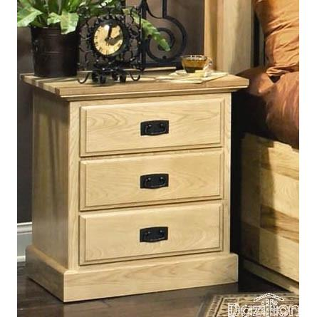 A-America Amish Highlands 3 Drawer Nightstand