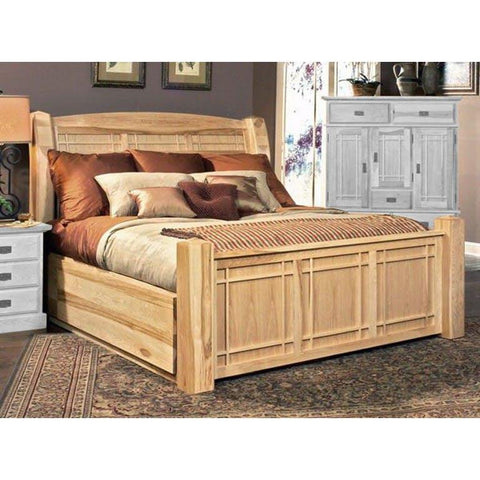 A-America Amish Highlands King Storage Bed in Natural