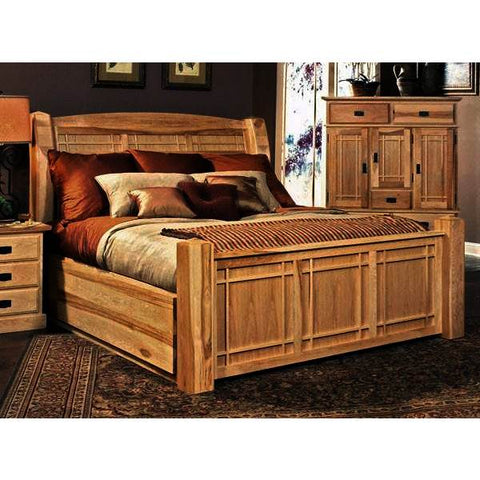 A-America Amish Highlands Storage Bed in Natural