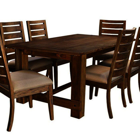 A-America Anacortes 105 Inch Extension Trestle Dining Table in Salvage Mahogany