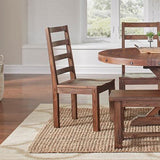 A-America Anacortes 12 Piece Butterfly Leaf Leg Dining Room Set in Salvage Mahogany