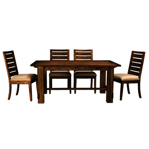 A-America Anacortes 5 Piece Trestle Dining Room Set in Salvage Mahogany