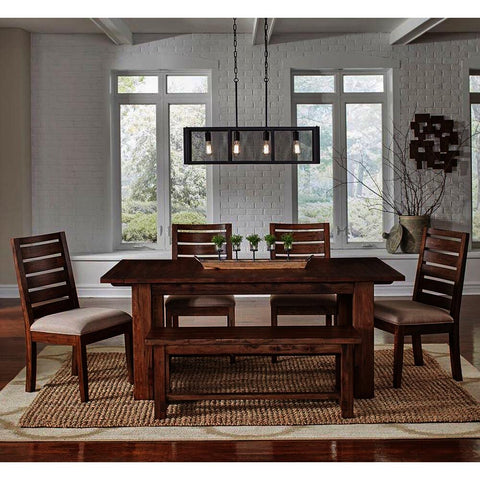 A-America Anacortes 6 Piece Trestle Dining Room Set in Salvage Mahogany