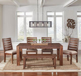 A-America Anacortes 90 Inch Butterfly Leaf Leg Dining Table in Salvage Mahogany