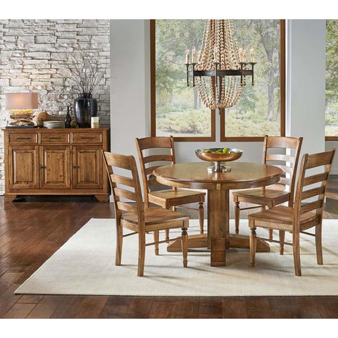 A-America Bennett 6 Piece Pedestal Dining Room Set in Smoky Quartz
