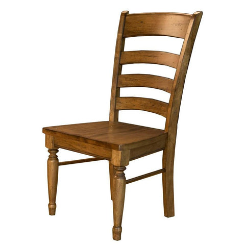 A-America Bennett Ladderback Side Chair in Smoky Quartz
