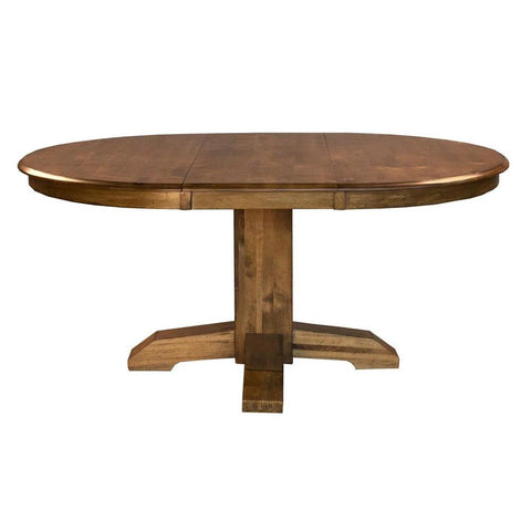 A-America Bennett Pedestal Dining Table w/Leaf in Smoky Quartz