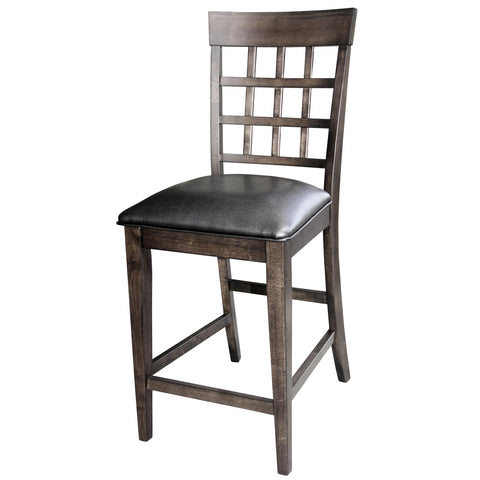 A-America Bristol Point Lattice Back Counter Chair, Warm Grey Finish