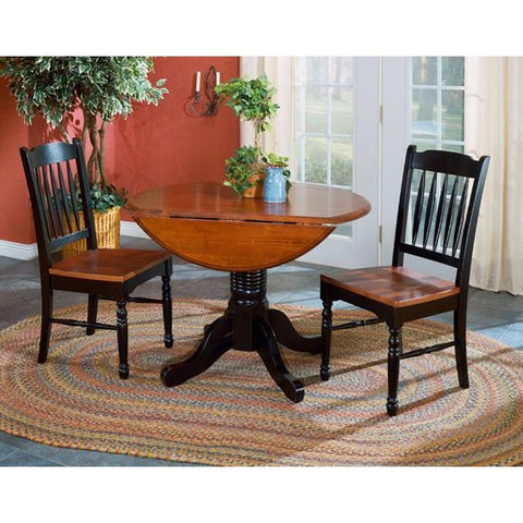 "A-America British Isles 42"" Round Double Drop-Leaf Dining Table"